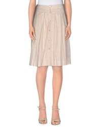 Just In Case Skirts Knee Length Skirts Women Beige