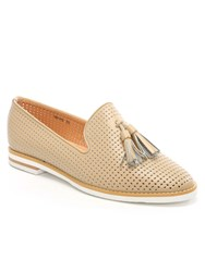 Daniel Montego Perforated Loafers Beige