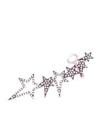 Diane Kordas Rose Gold Star Ear Cuff Female Silver