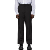 Juun.J Black Cotton Trousers