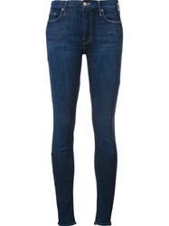 Mother 'Looker' Cropped Skinny Jeans Blue