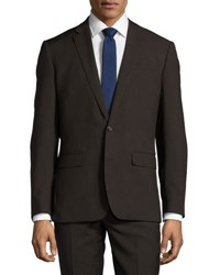 Neiman Marcus Slim Fit Two Piece Suit Taupe