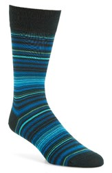 Bugatchi Men's 'Alternating Thin Stripe' Socks Forest