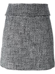 Michael Michael Kors Tweed Mini Skirt Black