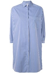 Aspesi Classic Shirt Dress Women Cotton Xl Blue