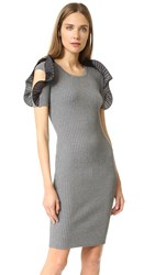 Opening Ceremony Ruffle Sleeve Dress Ash Grey