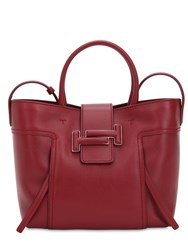 Tod's Medium Dot Double T Leather Bag Red