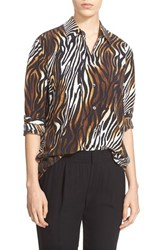 Women's Equipment 'Reese' Animal Print Silk Blouse