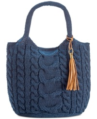 Straw Studios Sweater Tote Navy