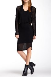 Riller And Fount Double Layered Cutout Dress Black