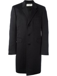 Saint Laurent Classic Chesterfield Coat Grey