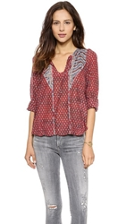 Burning Torch Patti Shirt Patti Print