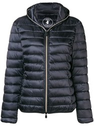 Save The Duck Hooded Quilted Jacket Black