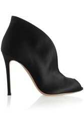 Gianvito Rossi Cutout Satin Ankle Boots