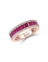 Effy Amore Diamond Ruby And 14K Rose Gold Ring Pink