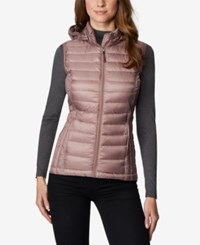 32 Degrees Hooded Packable Puffer Vest Natural Blush