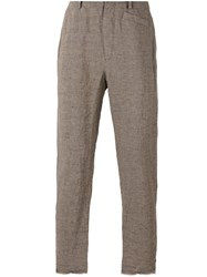 Ziggy Chen Tapered Trousers Brown