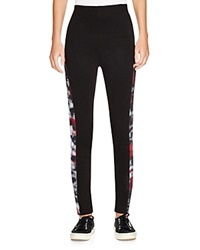 Elie Tahari Sport Trina Abstract Print Leggings Black