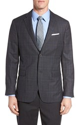 Jack Spade Men's Trim Fit Plaid Wool Sport Coat