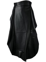 A.W.A.K.E. Pleated Skirt Women Leather Polyester 38 Black
