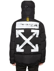 Off White Brushed Arrows Down Quilted Jacket