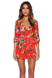 Yumi Kim Liz Romper Orange