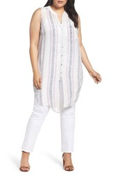Nic Zoe Plus Size Women's Stitch Lines Tunic Tank