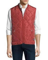 Wesc Rad Quilted Zip Front Vest Red