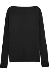 Splendid Ribbed Cotton And Cashmere Blend Top Black