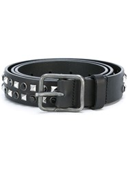 Dsquared2 Pyramid And Sphere Studded Belt Black
