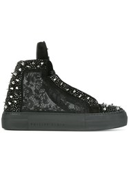 Philipp Plein 'Angry' Mid Top Sneakers Black