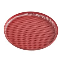 Hay Perforated Aluminium Tray Medium Red
