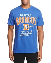 Junk Food Broncos Kickoff Crewneck Short Sleeve Tee Liberty Blue
