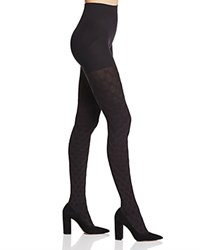 Hue Diamond Weave Shaping Tights Black