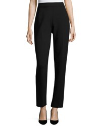 Rani Arabella Slim Fit Double Face Wool Pants Black