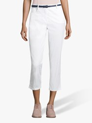 Betty Barclay Cropped Belted Jeans Bright White