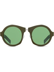 Prada Eyewear Tinted Lens Sunglasses Green