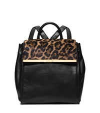 Michael Kors Lana Leopard Print Hair Calf And Leather Backpack