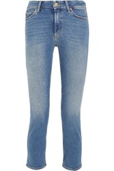 Mih Jeans M.I.H Niki Cropped Mid Rise Skinny Mid Denim