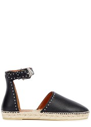 Givenchy Black Studded Leather Espadrilles