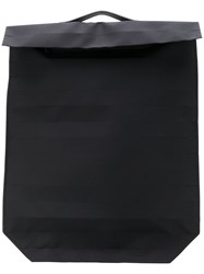 Issey Miyake Foldover Structured Backpack Black