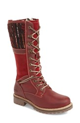 Bos. And Co. Holland Waterproof Boot Red Oil Suede