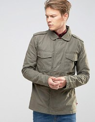 Bellfield Military Style Jacket Khaki Green