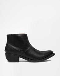 Yru West Western Black Ankle Boots Blackgold