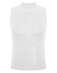 Miss Selfridge Sleeveless Knit Top Beige