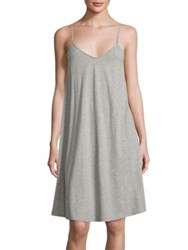 Skin Heathered Cotton Chemise Heather Grey