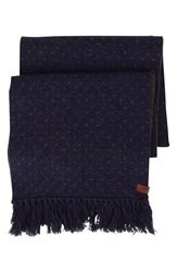 Men's Ben Sherman Micro Dot Knit Scarf Blue Navy Blazer