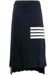 Thom Browne 4 Bar Trompe L'oeil Skirt Blue