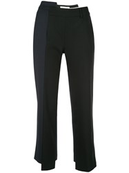 Monse Deconstructed Cropped Trousers Black