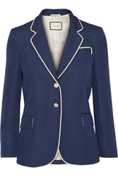 Gucci Embellished Silk And Wool Blend Blazer